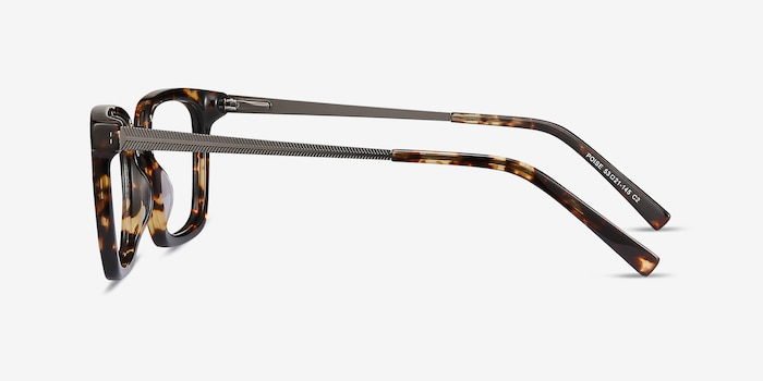 Poise Tortoise Acetate-metal Eyeglass Frames from EyeBuyDirect, Side View