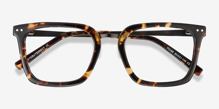 Poise Tortoise Acetate Eyeglass Frames from EyeBuyDirect, Closed View