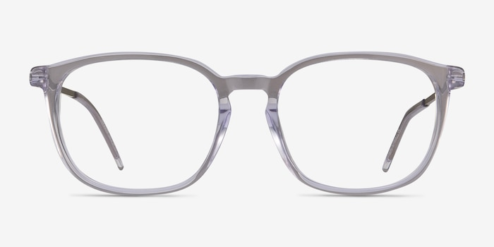 Esquire Clear Metal Eyeglass Frames from EyeBuyDirect, Front View