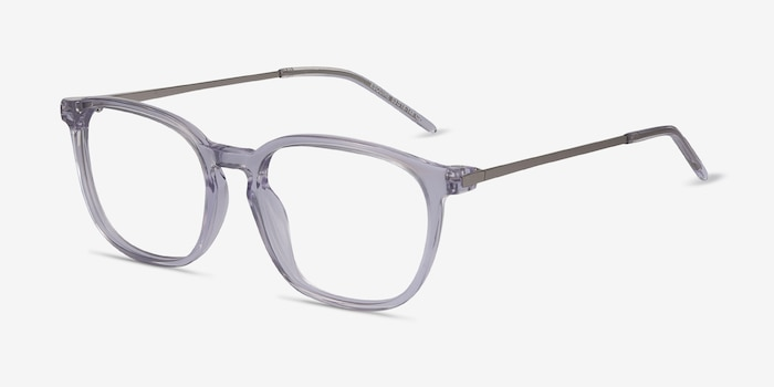Esquire Clear Metal Eyeglass Frames from EyeBuyDirect, Angle View