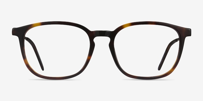 Esquire Tortoise Metal Eyeglass Frames from EyeBuyDirect, Front View