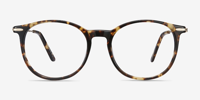 Quill Tortoise Acetate Eyeglass Frames from EyeBuyDirect, Front View