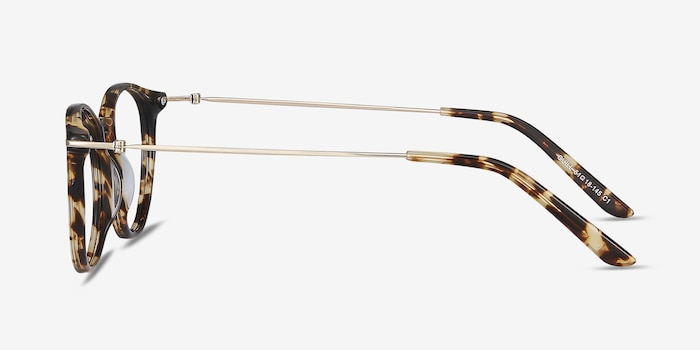 Quill Tortoise Acetate-metal Eyeglass Frames from EyeBuyDirect, Side View