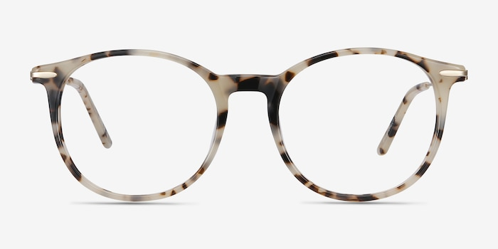 Quill Ivory Tortoise Acetate Eyeglass Frames from EyeBuyDirect, Front View