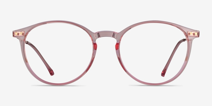 Amity Rose Gold Metal Eyeglass Frames from EyeBuyDirect, Front View