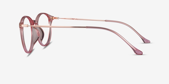 Amity Rose Gold Metal Eyeglass Frames from EyeBuyDirect, Side View