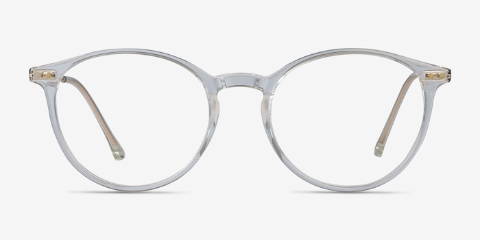 Amity Clear Metal Eyeglass Frames from EyeBuyDirect, Front View