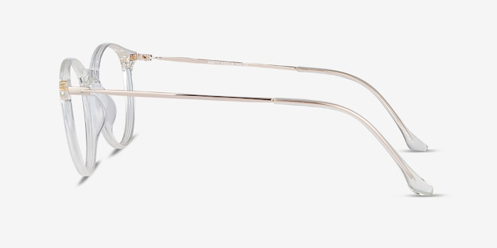 Amity Clear Metal Eyeglass Frames from EyeBuyDirect, Side View