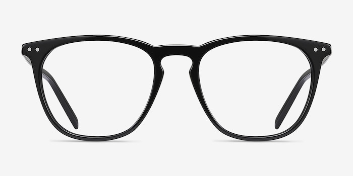 Distance Black Acetate Eyeglass Frames from EyeBuyDirect, Front View