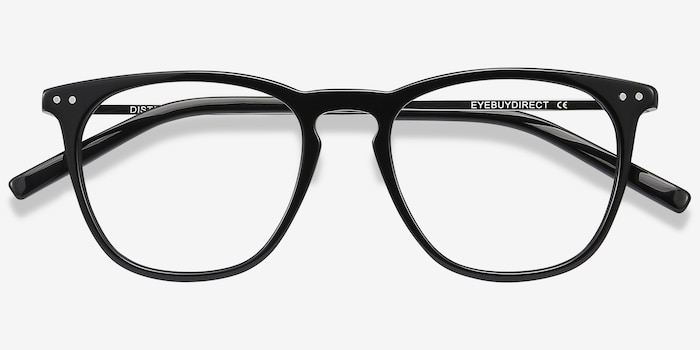 Distance Black Acetate Eyeglass Frames from EyeBuyDirect, Closed View