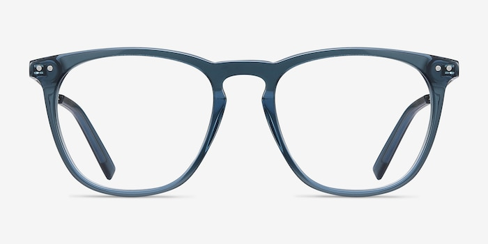 Distance Green Acetate Eyeglass Frames from EyeBuyDirect, Front View