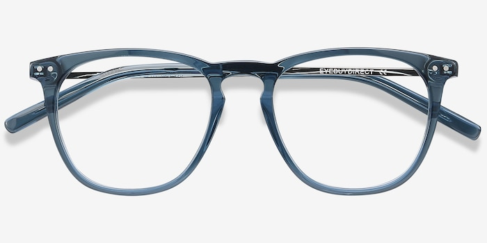Distance Green Acetate Eyeglass Frames from EyeBuyDirect, Closed View