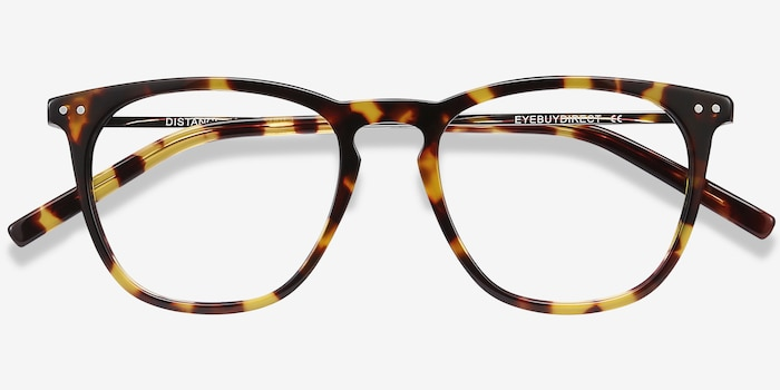 Distance Tortoise Metal Eyeglass Frames from EyeBuyDirect, Closed View