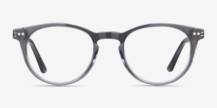 Traveller Gray Acetate Eyeglass Frames from EyeBuyDirect, Front View