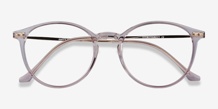 Amity Purple Metal Eyeglass Frames from EyeBuyDirect, Closed View