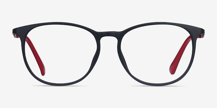 Today Noir Métal Montures de Lunettes d'EyeBuyDirect, Vue de Face