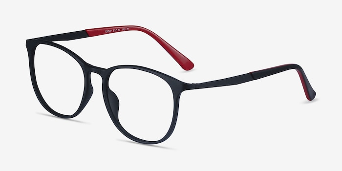 Today Black Metal Eyeglass Frames from EyeBuyDirect, Angle View