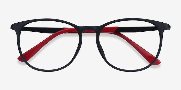 Today Black Metal Eyeglass Frames from EyeBuyDirect, Closed View