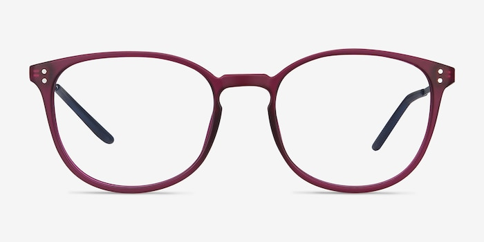Spoken Purple Metal Eyeglass Frames from EyeBuyDirect, Front View