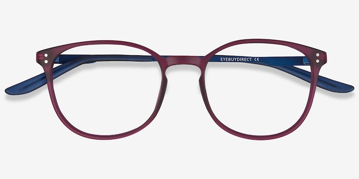 Spoken Purple Metal Eyeglass Frames from EyeBuyDirect, Closed View