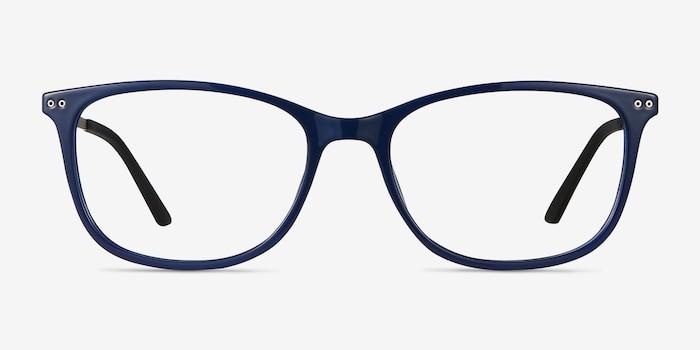 Clarity Bleu Métal Montures de Lunettes d'EyeBuyDirect, Vue de Face