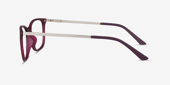 Clarity Purple Metal Eyeglass Frames from EyeBuyDirect, Side View