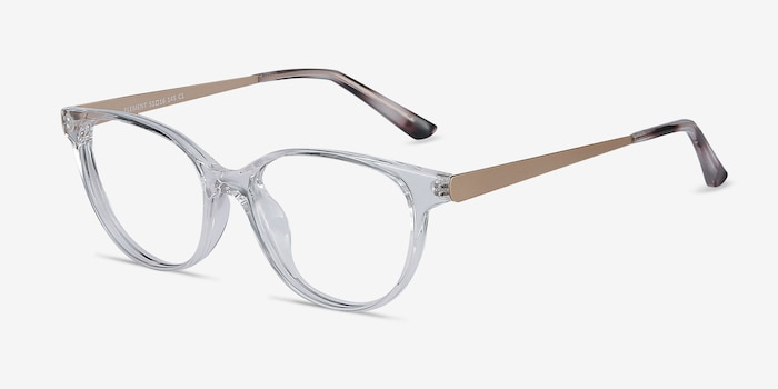 Element Clear Metal Eyeglass Frames from EyeBuyDirect, Angle View