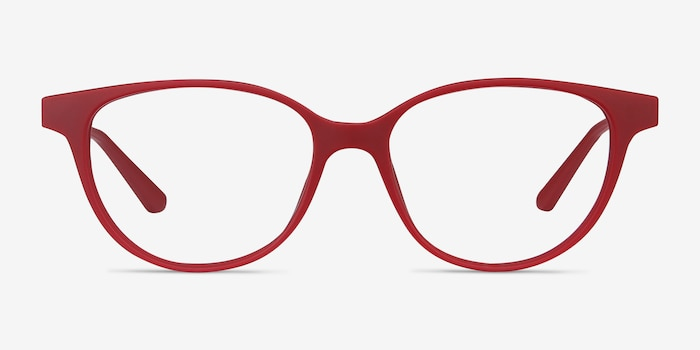 Element Red Metal Eyeglass Frames from EyeBuyDirect, Front View