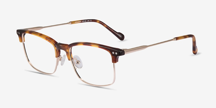 Explorer Tortoise Metal Eyeglass Frames from EyeBuyDirect, Angle View