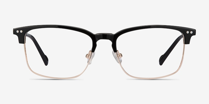 Explorer Black Acetate-metal Eyeglass Frames from EyeBuyDirect, Front View