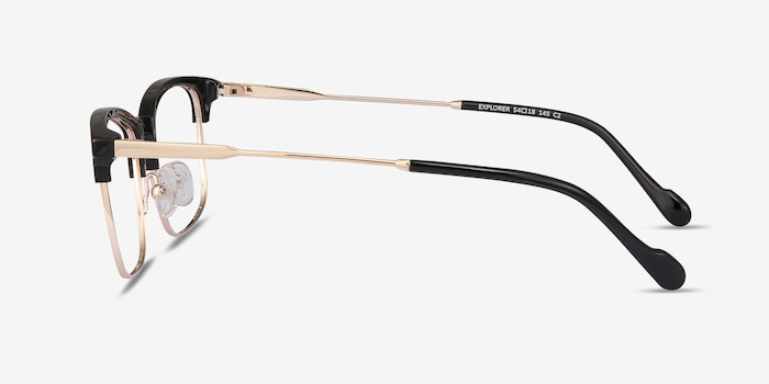 Explorer Black Acetate-metal Eyeglass Frames from EyeBuyDirect, Side View