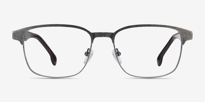 Meta Gunmetal Acetate-metal Eyeglass Frames from EyeBuyDirect, Front View