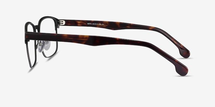 Meta Gunmetal Metal Eyeglass Frames from EyeBuyDirect, Side View