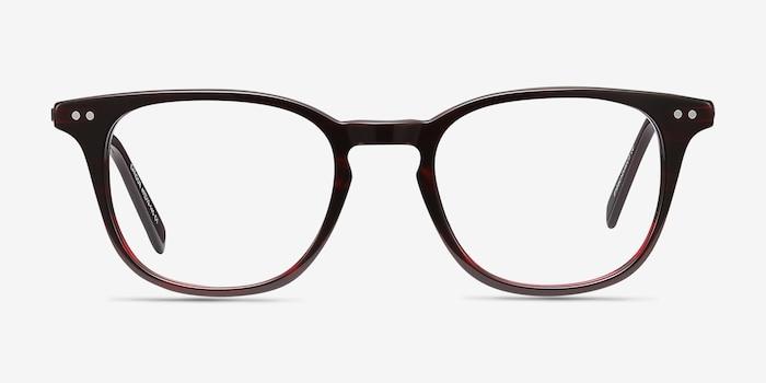 Candor Rouge Acétate Montures de Lunettes d'EyeBuyDirect, Vue de Face