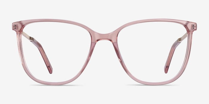 Aroma Pink Metal Eyeglass Frames from EyeBuyDirect, Front View