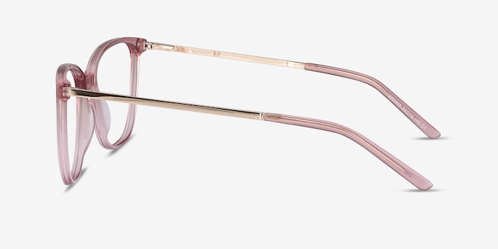 Aroma Pink Metal Eyeglass Frames from EyeBuyDirect, Side View
