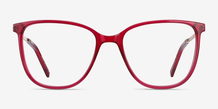 Aroma Raspberry Acetate Eyeglass Frames from EyeBuyDirect, Front View