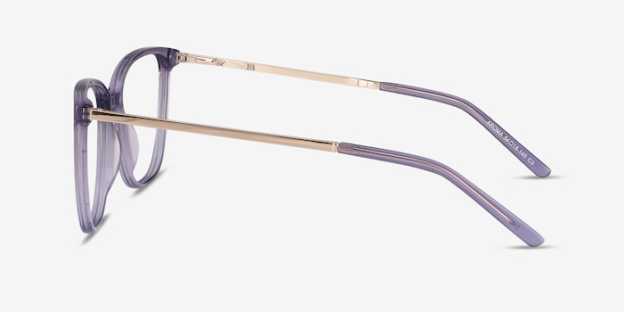 Aroma Purple Metal Eyeglass Frames from EyeBuyDirect, Side View