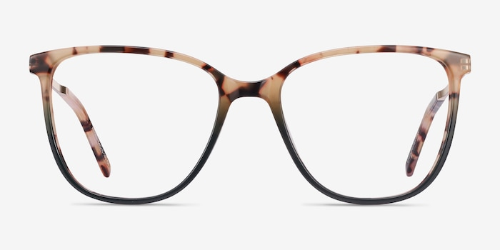 Aroma Tortoise & Green Acetate Eyeglass Frames from EyeBuyDirect, Front View