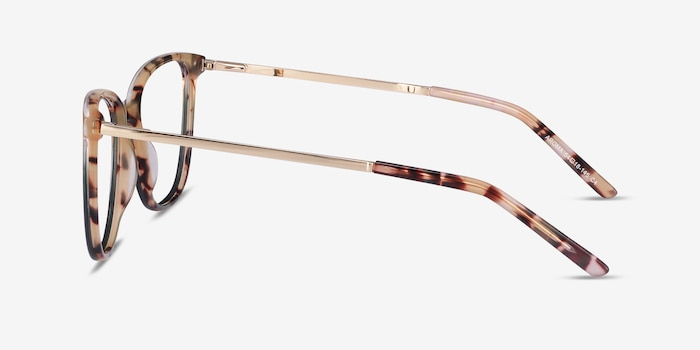 Aroma Tortoise Green Acetate-metal Eyeglass Frames from EyeBuyDirect, Side View