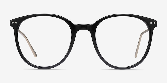 Oriana Black Metal Eyeglass Frames from EyeBuyDirect, Front View