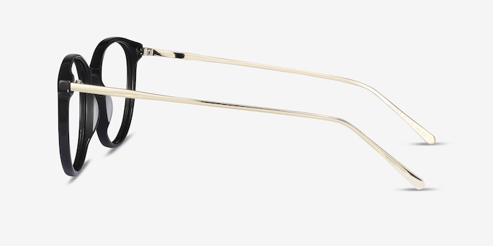 Oriana Black Metal Eyeglass Frames from EyeBuyDirect, Side View