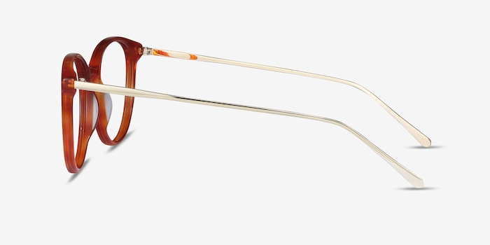 Oriana Orange Acetate Eyeglass Frames from EyeBuyDirect, Side View