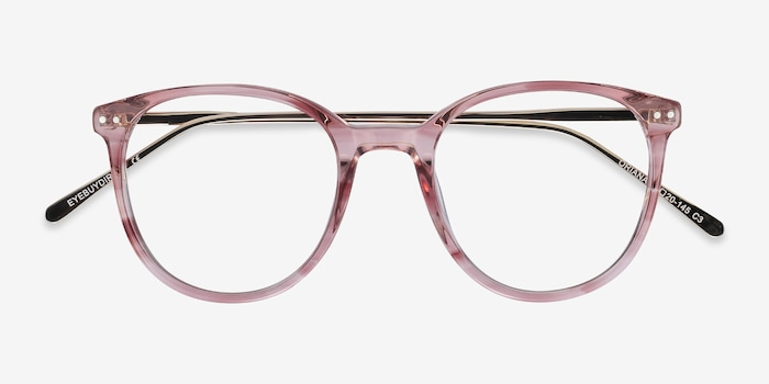 Oriana Pink Metal Eyeglass Frames from EyeBuyDirect, Closed View