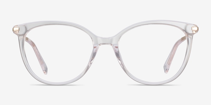 Attitude Clear Acetate Eyeglass Frames from EyeBuyDirect, Front View