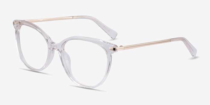 Attitude Clear Acetate Eyeglass Frames from EyeBuyDirect, Angle View