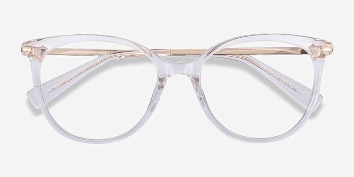 Attitude Clear Acetate Eyeglass Frames from EyeBuyDirect, Closed View