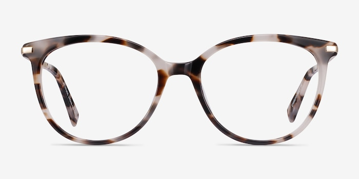 Attitude Ivory Tortoise Acetate Eyeglass Frames from EyeBuyDirect, Front View