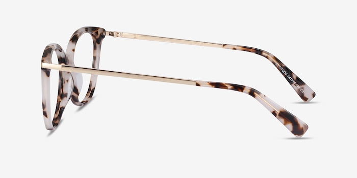 Attitude Ivory Tortoise Metal Eyeglass Frames from EyeBuyDirect, Side View