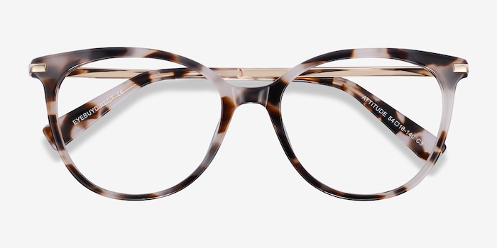 Attitude Ivory Tortoise Metal Eyeglass Frames from EyeBuyDirect, Closed View